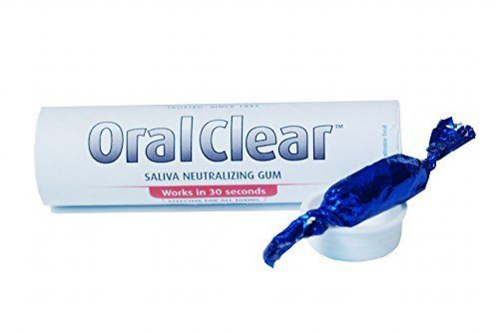Oral clear saliva drug test gum