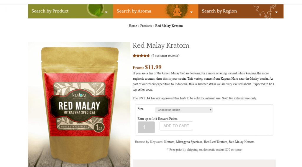 Red Malay kratom review